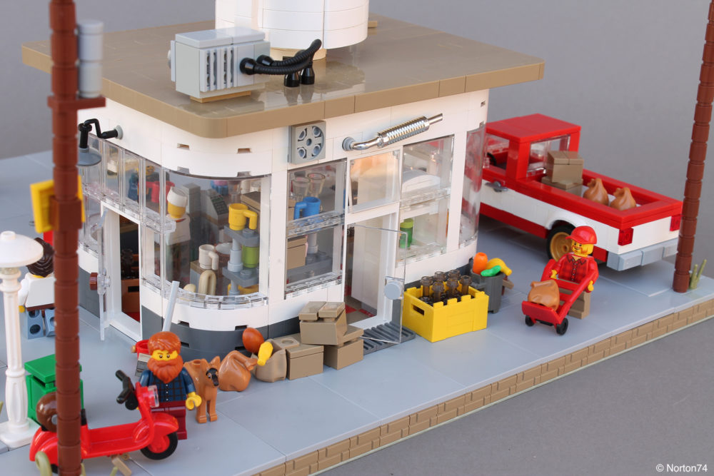 LEGO Coffee Stand Andy's Cafe - back