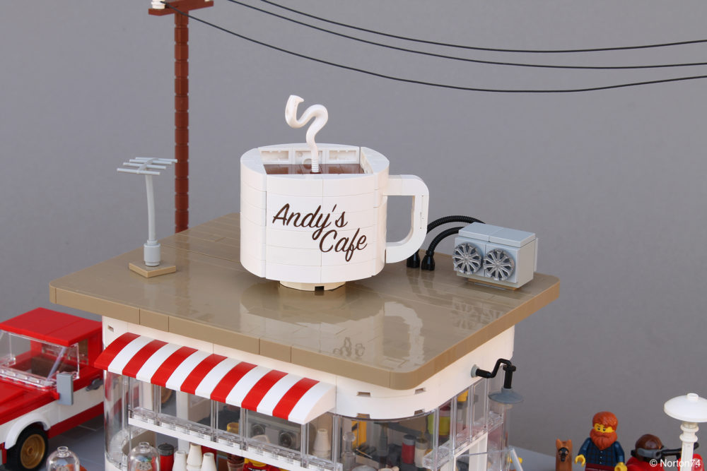 LEGO Coffee Stand Andy's Cafe - roof