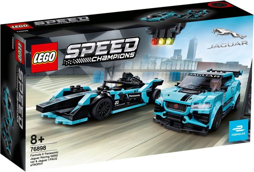 LEGO Speed Champions 76898 Formula E Panasonic Jaguar Racing GEN 2 car & Jaguar I-PACE eTROPHY