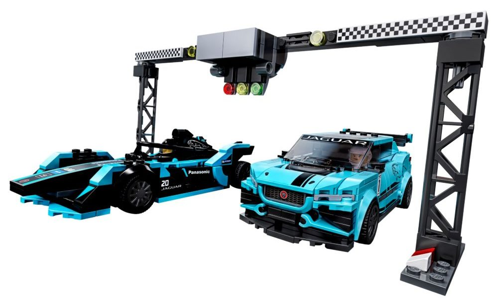 LEGO Speed Champions 75898 Formula E Panasonic Jaguar Racing GEN 2 car & Jaguar I-PACE eTROPHY