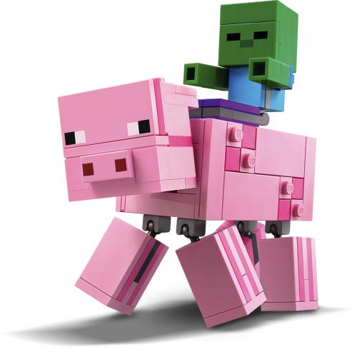 LEGO Minecraft 21157 Pig with Zombie Baby