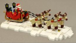 Gemotoriseerde LEGO Rendieren en Arrenslee