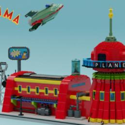 LEGO Ideas Futurama Planet Express Headquarter, Spaceship and the Crew