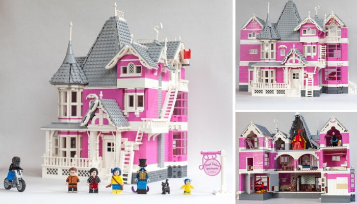 LEGO Ideas Coraline's Pink Palace Apartments
