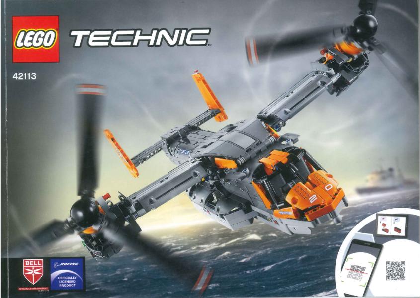 Instructies LEGO Technic 42113 Bell Boeing V-22 Osprey