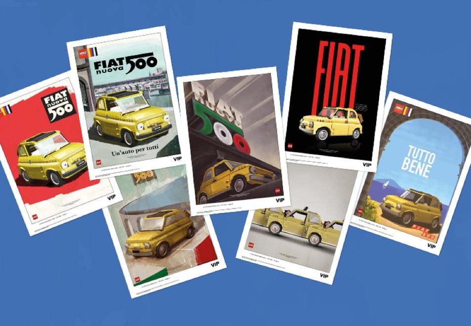 LEGO Fiat 500 posters VIP Rewards