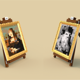 LEGO Ideas Mona Lisa by Leonardo da Vinci - 2 in 1
