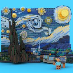 LEGO Ideas Vincent van Gogh - The Starry Night