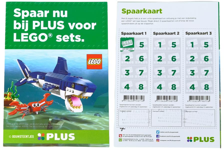 LEGO spaaractie Plus supermarkt