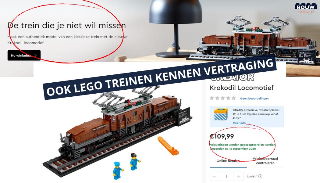 Trein vertraging LEGO