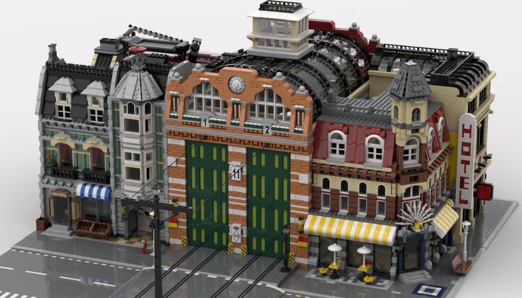 LEGO Tram Depot - BrickPolis