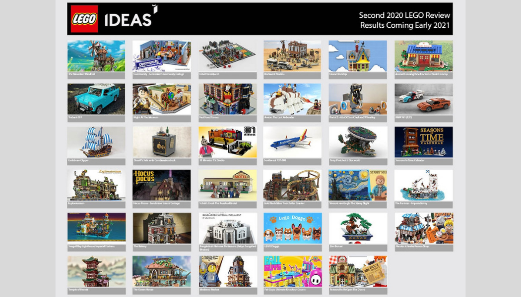 Kandidaten tweede LEGO Ideas review 2020