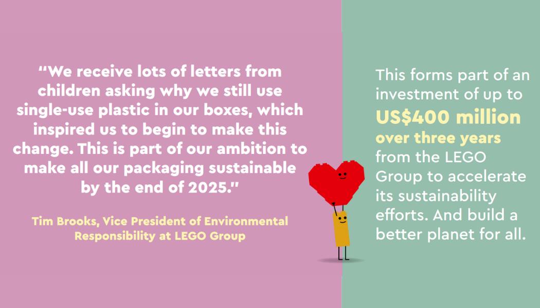 LEGO Group investeert $400 miljoen om verduurzaming te versnellen