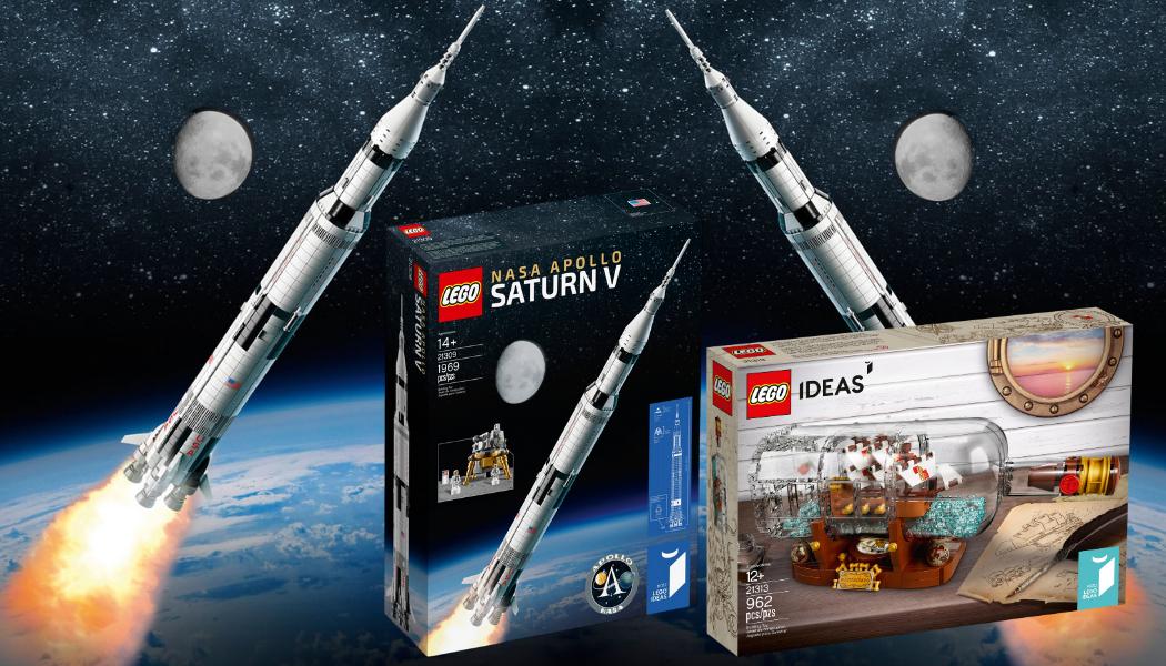 Re-release LEGO NASA Apollo Saturn V & LEGO Ship in a Bottle (1)