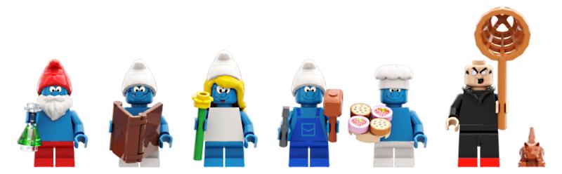 LEGO Ideas Smurfs Village
