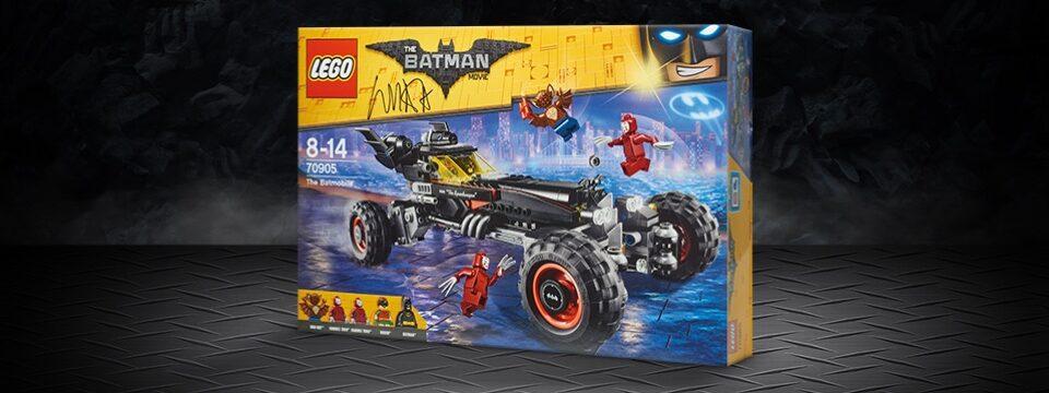 Gesigneerde LEGO Batman Movie Batmobile Sweepstake