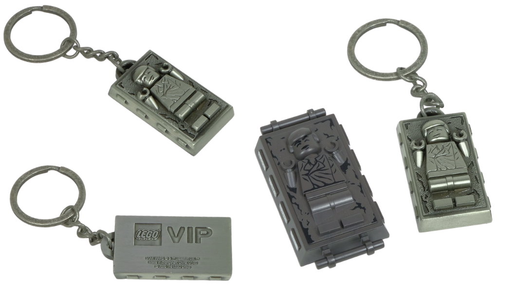 LEGO 5006363 Han Solo Carbonite Metal Keychain