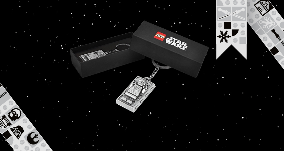 LEGO Han Solo Carbonite Keychain
