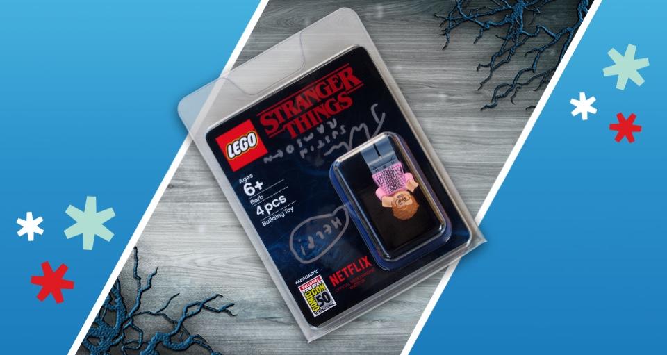 Gesigneerde LEGO Stranger Things Barb Minifigure Sweepstake
