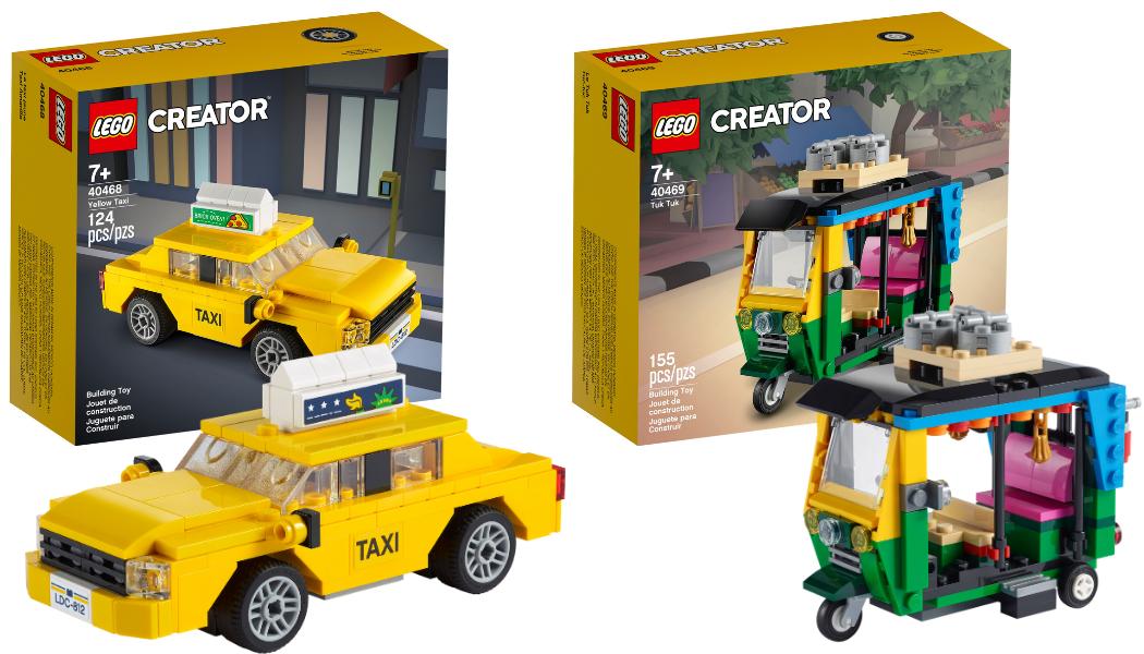 LEGO 40468 Yellow Taxi – LEGO 40469 Tuk Tuk