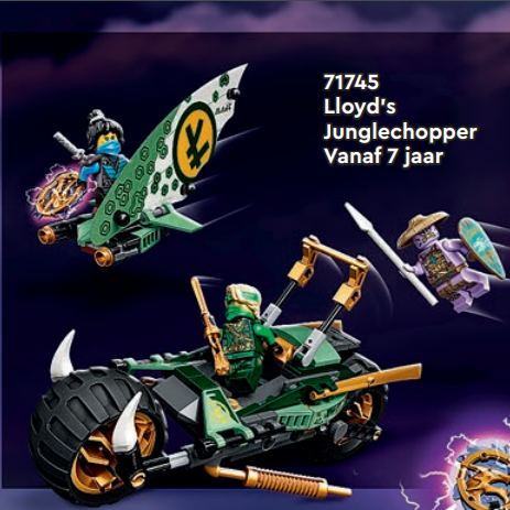 LEGO Ninjago 71745 Lloyd's Jungle Chopper