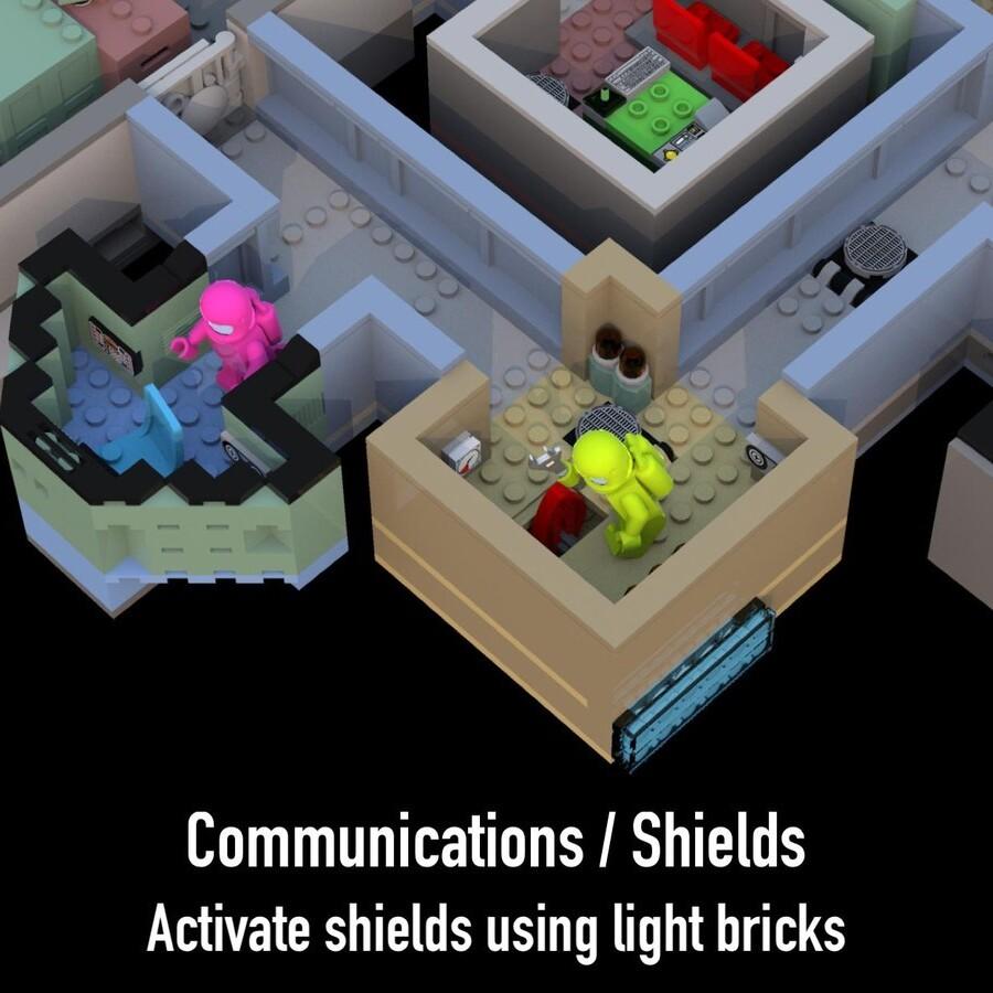 LEGO Ideas Among Us The Skeld Detailed Map