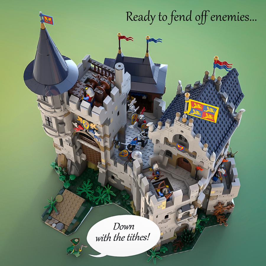 LEGO Ideas Castle of Lord AFOL and the Black Knights