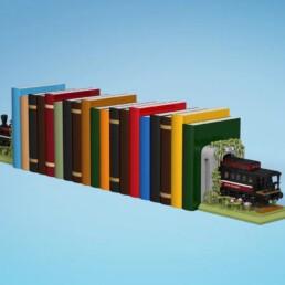 LEGO Ideas Train Bookends (1)
