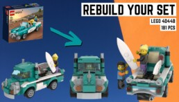 [Rebuild Your Set] LEGO 40448 Vintage Car – Pick-up Truck