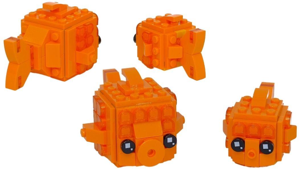 [Review] LEGO BrickHeadz Pets Goldfish & Budgie