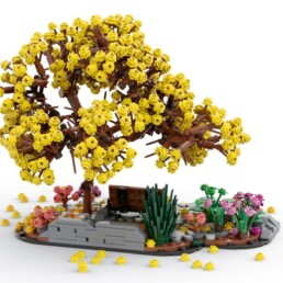 LEGO Ideas Bench Park With Golden Trumpet Tree