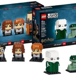 LEGO BrickHeadz Harry, Hermione, Ron & Hagrid LEGO BrickHeadz Voldemort, Nagini & Bellatrix