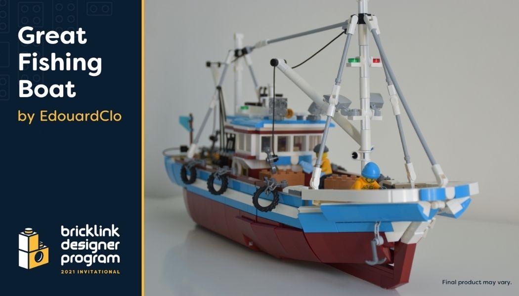 Bricklink Designer Program - Great Fishing Boat