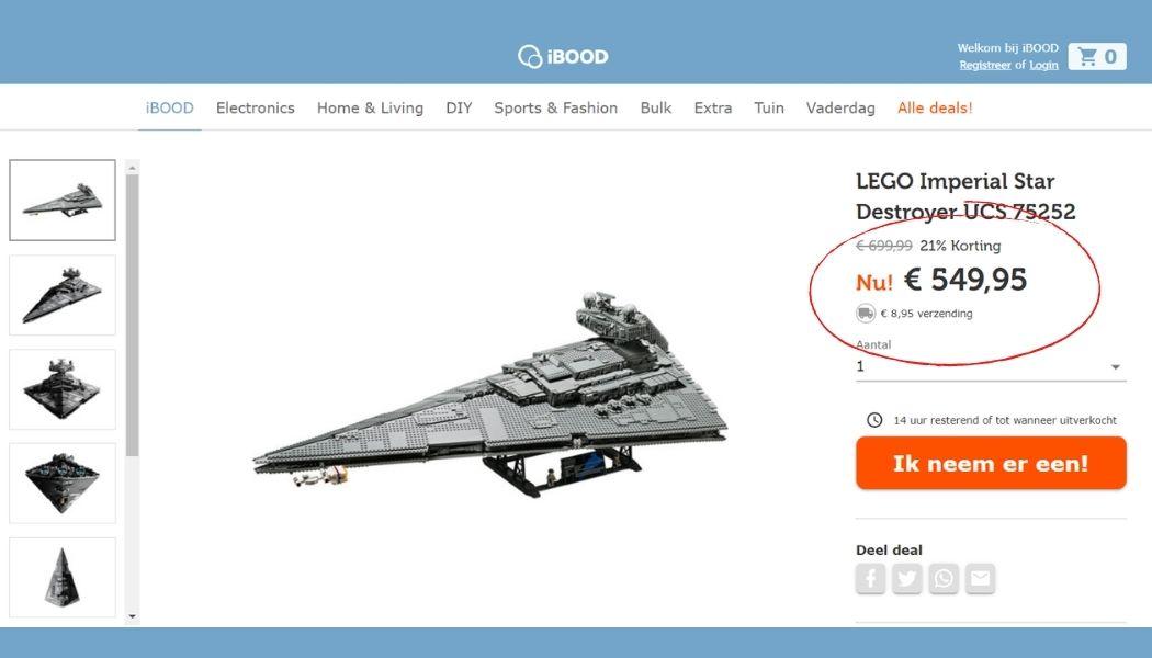 Dagdeal - LEGO Star Wars Imperial Star Destroyer voor €549,95