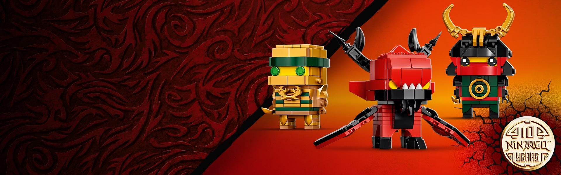LEGO 40490 Ninjago 10th Anniversary BrickHeadz