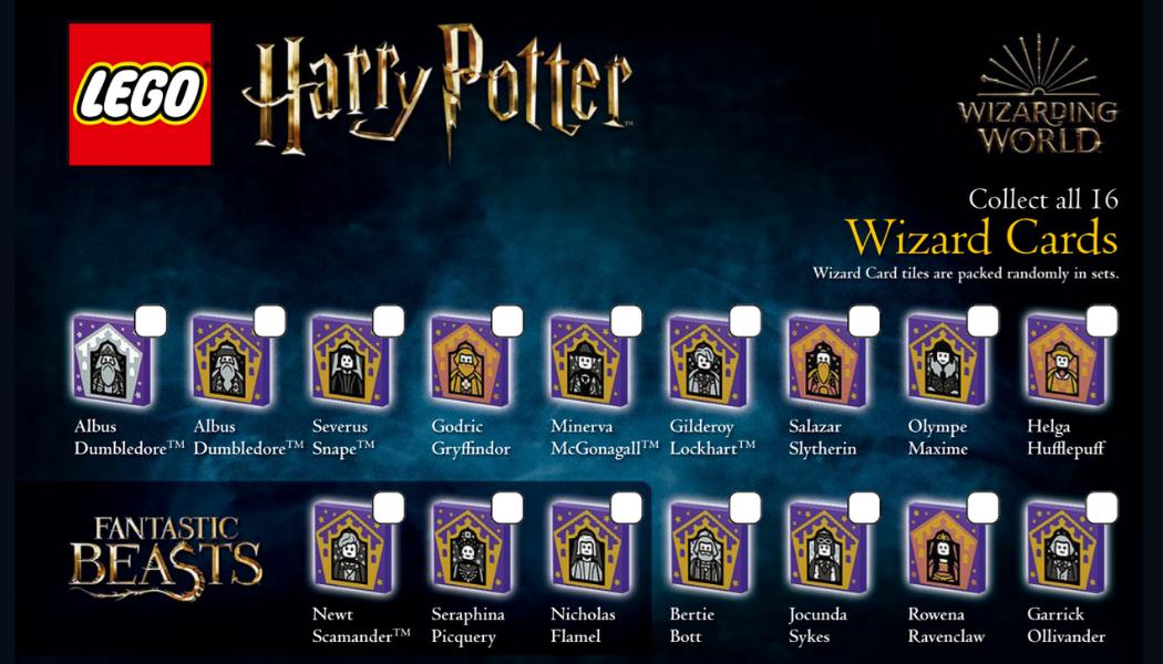 LEGO Harry Potter Wizard Cards checklist