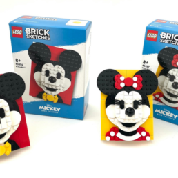 LEGO Brick Sketches 40456 Mickey Mouse & 40457 Minnie Mouse