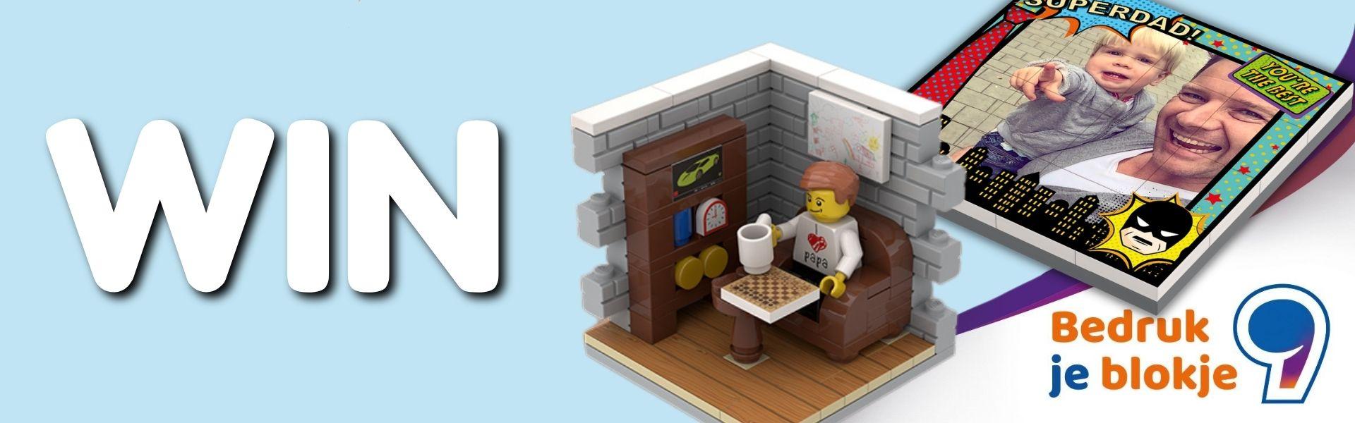 Win een gepersonaliseerde LEGO Vaderdag-cadeau