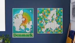 Alternatieve bouwinstructies LEGO Art World Map