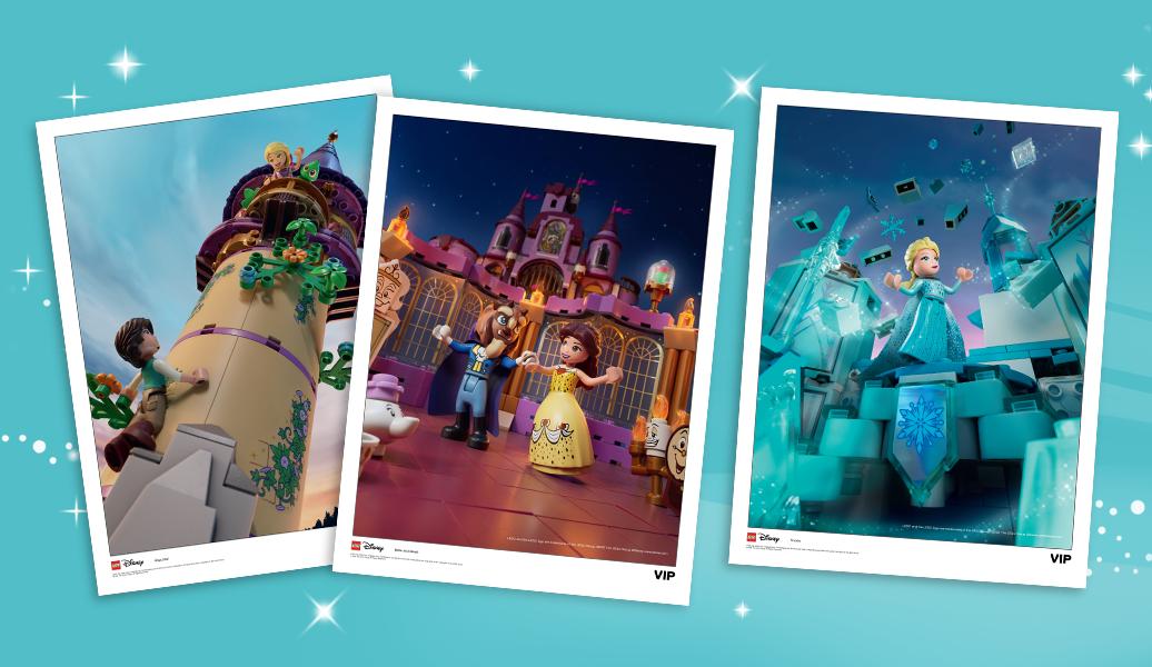 LEGO Disney VIP Art prints