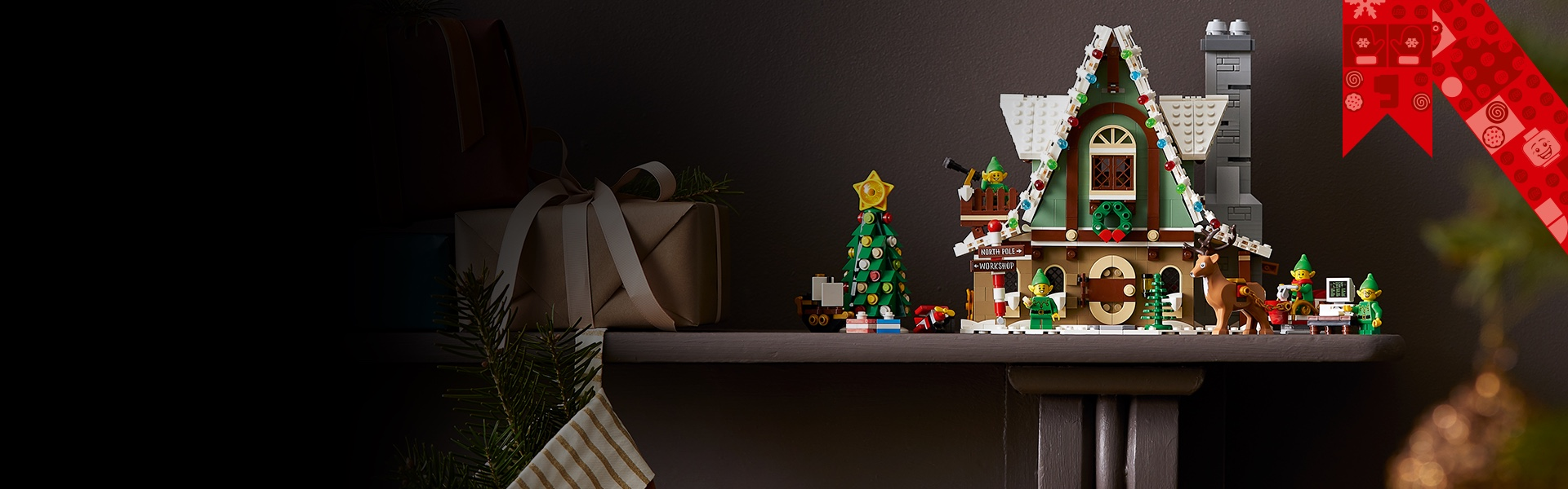 LEGO Elf Clubhouse banner