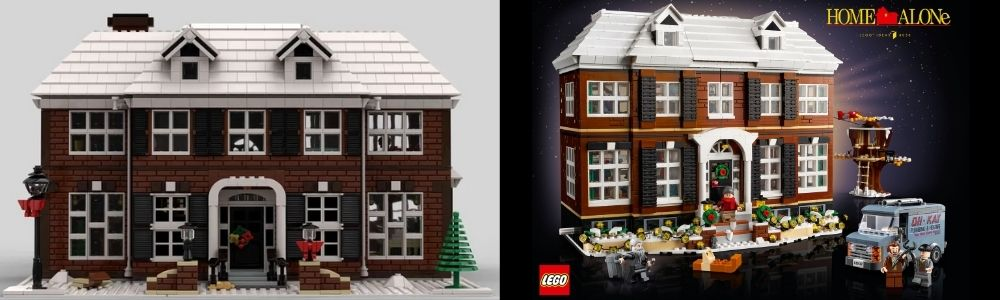 LEGO Ideas Home Alone comparison