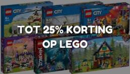 tot 25% korting op LEGO